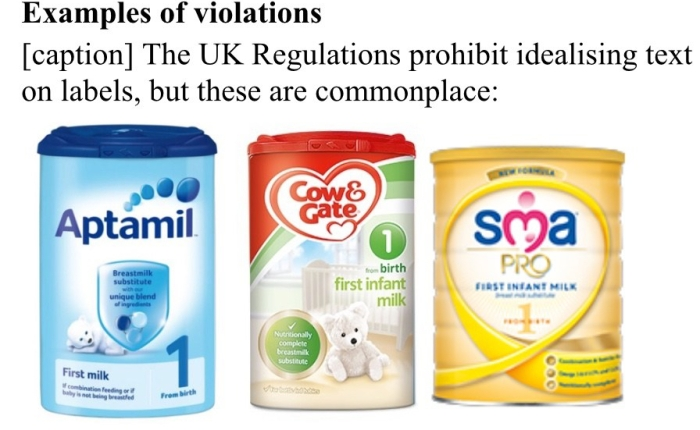 Save the Children Fund report on infant formula marketing